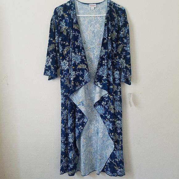 LuLaRoe Sweaters - LuLaroe Floral Suede Shirley Kimono